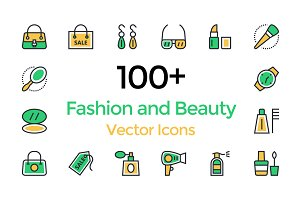 100+ Fashion and Beauty Vector Icons