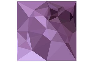 African Violet Abstract Low Polygon