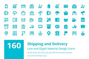160 Shipping and Delivery Icons
