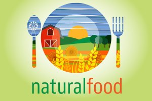 logo for vegetarian and healthy food
