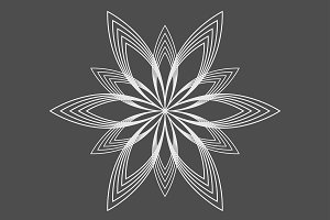Geometric logo flower