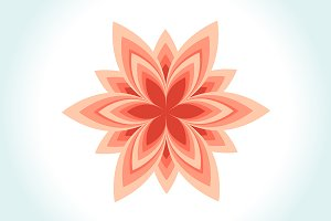 Logo with geometric flower