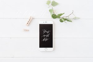 iPhone 6 styled mock up - Psd + Jpeg
