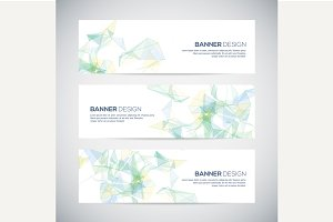 Banners with geometric background