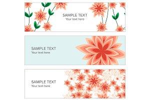 Floral web banner