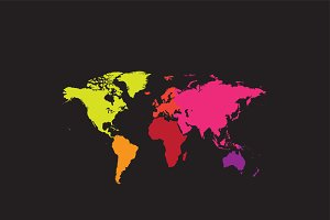 World map with continents