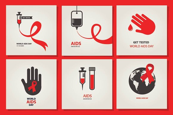 AIDS & HIV posters ~ Graphics on Creative Market