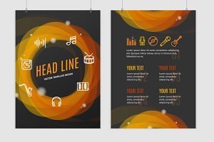 Geometric Round Placard Brochure