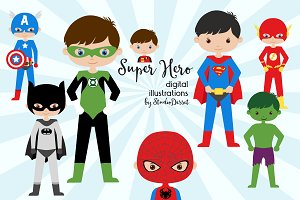 Super Hero - Characters Clipart