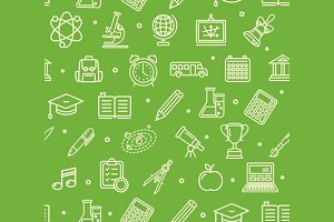 School Background Pattern. Vector