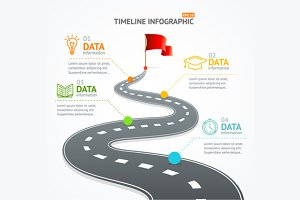 Infographic Timeline and Road