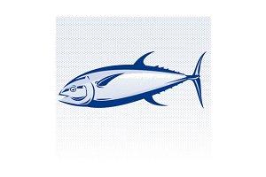 Bluefin Tuna Fish Woodcut