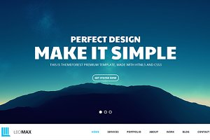 LexMax - One Page PSD Template