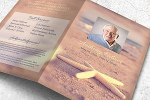Starfish Funeral Program Template