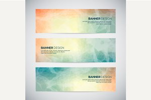 Banners with abstract background