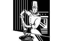 Chef Cook Baker Pepper Shaker