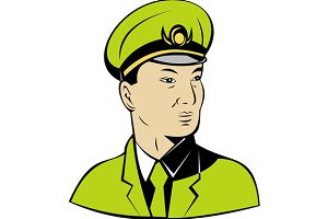 Asian Military Army Officer