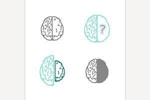 Alzheimers Icons Vector