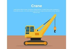 Caterpillar Crane Banner