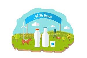 Organic Milk Farm Concept
