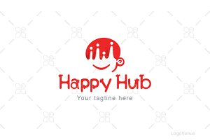 Happy Hub -  Community Club Logo