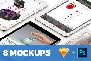 8 perspective iPad Pro mockups