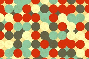 Colorful circles, retro pattern
