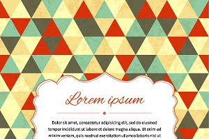 Retro card background with triangles