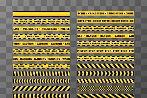 Yellow and black caution tapes