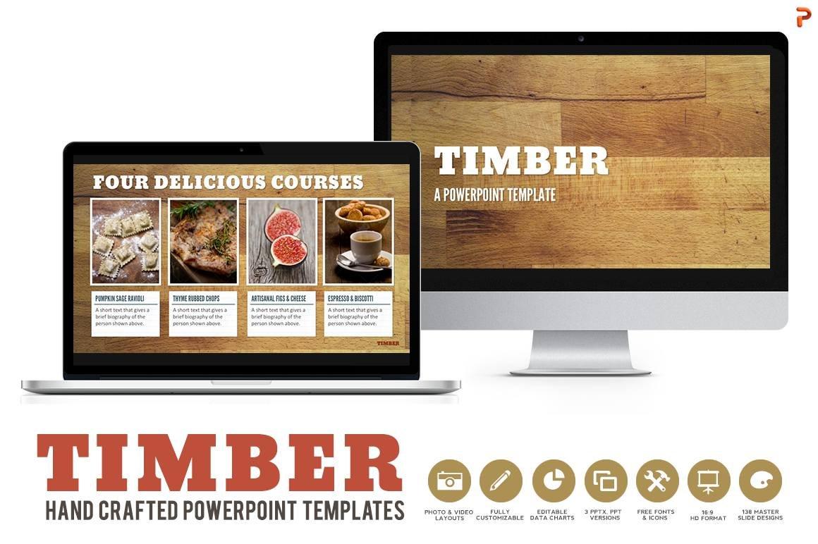 Timber powerpoint templates presentation templates creative market toneelgroepblik Images