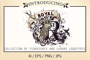 vector pack of royal logotypes