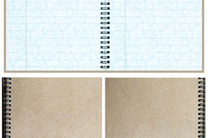 Paper Notebook, inside and cover