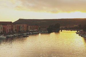 Sardinian town Bosa