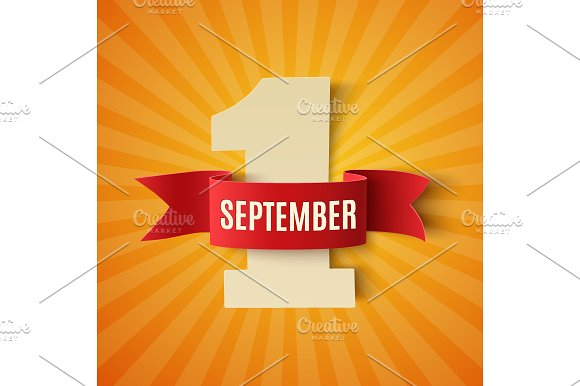 September 1st. background template. - Illustrations