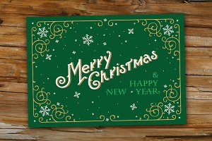 Merry Christmas Greetings Card.