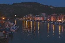 View of Sardinian town Bosa