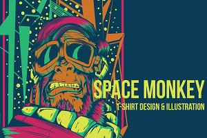 Space monkey Illustration