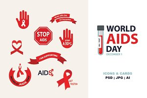 AIDS & HIV icons + BONUS (3)