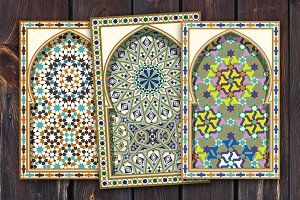 Three Morocco Mosaic Arches