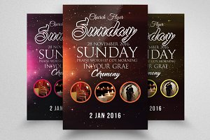 Sunday Prayer Church Flyer