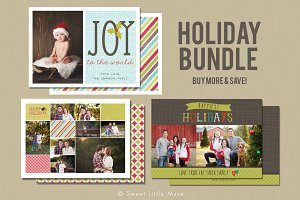 Christmas Card Template Bundle