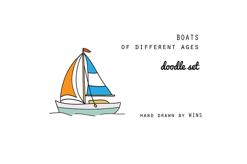 Boats Doodle Set Illustrations Creative Market