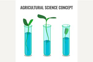 Agricultural science concept