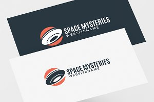 UFO and Aliens Logo Template