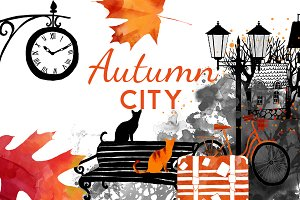 Romantic autumn city