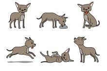 Cartoon chihuahua dog character