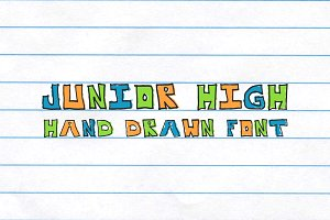 Junior High Blocky Notebook Font