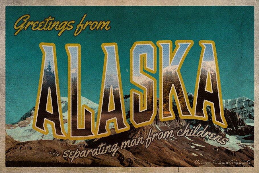 Vintage Greetings Postcard Generator ~ Postcard Templates