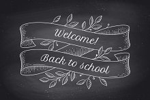 Back to School. Greeting card
