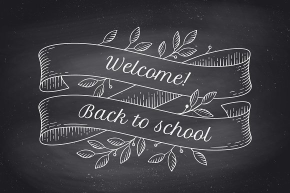 Back to School. Greeting card - Illustrations
